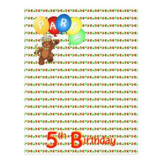 5thBirthday Party Royal Bear Scrapbook  Paper 3 Custom Flyer