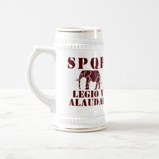 5to Alaudae elefante romano Stein de la legión de Jarra De Cerveza