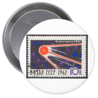 5to aniversario 1962 de Sputnik 1 Pin Redondo De 4 Pulgadas