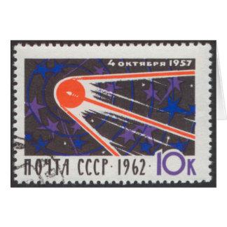 5to aniversario 1962 de Sputnik 1 Tarjeta Pequeña