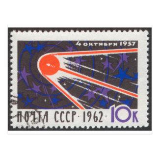 5to aniversario 1962 de Sputnik 1 Tarjeta Postal