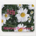 5to aniversario de boda - margarita alfombrillas de raton