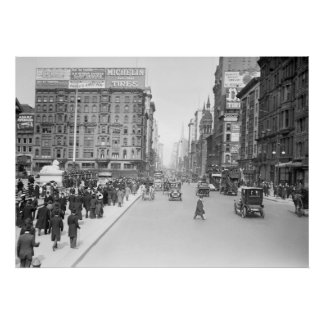5to Avenida en la 42.a calle: 1910 Póster