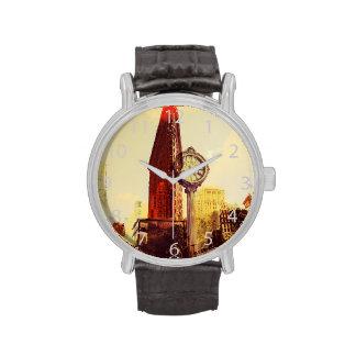 5to Avenida, NYC, edificio plano del hierro Relojes De Pulsera
