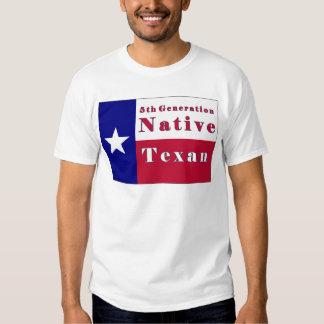 5to Bandera nativa del Texan de la generación Playeras