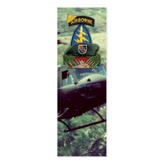 5to bookmarker de destello de las fuerzas tarjetas de visita mini