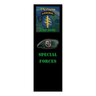 5to bookmarker del grupo de las fuerzas especiales tarjetas de visita mini