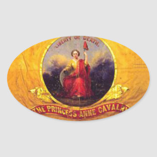 5to Caballería de Virginia - la princesa Anne Pegatina Ovalada