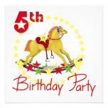 5to Caballo mecedora de la fiesta de cumpleaños Anuncios