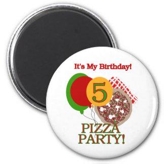 5to Camisetas y regalos del cumpleaños del fiesta  Imán Redondo 5 Cm