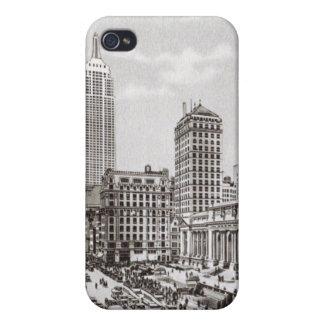 5to caso del iphone 4 del vintage de la avenida de iPhone 4 fundas