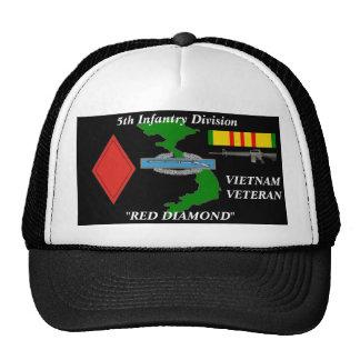 5to Casquillo de la bola de Vietnam de la división Gorros Bordados