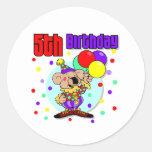 5to Cumpleaños de Australia del cumpleaños Pegatina Redonda