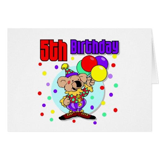 5to Cumpleaños de Australia del cumpleaños Tarjeta De Felicitación