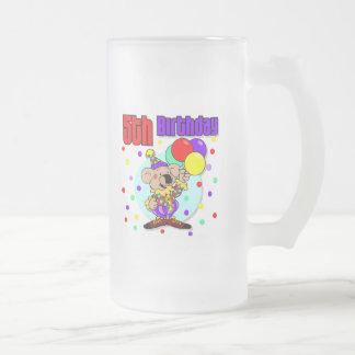 5to Cumpleaños de Australia del cumpleaños Taza Cristal Mate