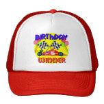 5to Cumpleaños del coche de carreras del cumpleaño Gorro De Camionero