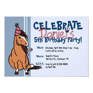 """5to cumpleaños del fiesta de los muchachos azules invitación 5"""" x 7"""""""