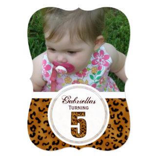 5to cumpleaños del leopardo: Imagen: Invitación
