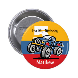 5to cumpleaños del monster truck pin