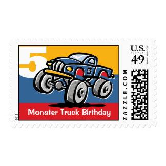 5to cumpleaños del monster truck timbre postal