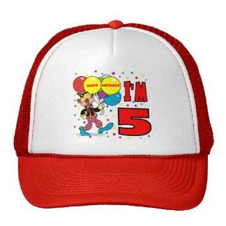 5to Cumpleaños del payaso del cumpleaños Gorras De Camionero