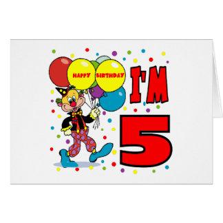 5to Cumpleaños del payaso del cumpleaños Felicitación