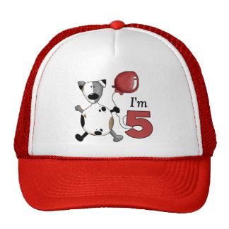 5to Cumpleaños del perrito del cumpleaños Gorras