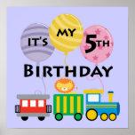 5to Cumpleaños del tren del cumpleaños Impresiones