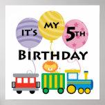 5to Cumpleaños del tren del cumpleaños Poster