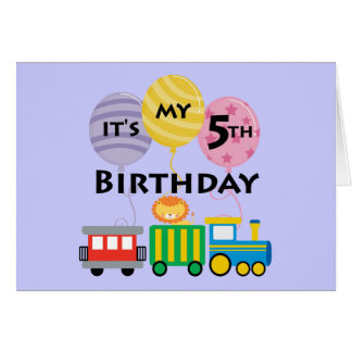 5to Cumpleaños del tren del cumpleaños Tarjeta De Felicitación