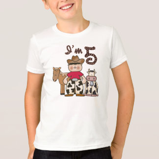 5to cumpleaños del vaquero camisas