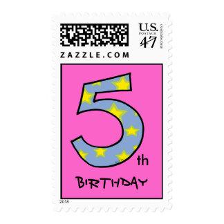 5to Cumpleaños Estampilla