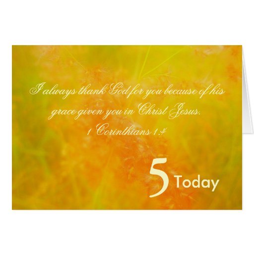 5to Cumpleaños Tarjeta De Felicitación