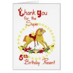 5to El cumpleaños le agradece caballo Tarjetas
