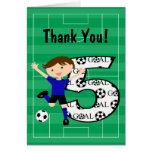 5to El fútbol azul y negro del cumpleaños le agrad Tarjeton