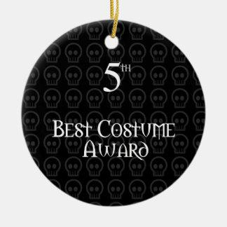 5to El lugar B&W Morph el mejor premio del traje Adorno Navideño Redondo De Cerámica