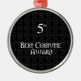 5to El lugar B&W Morph el mejor premio del traje Adorno Navideño Redondo De Metal