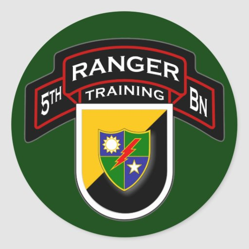 5to Entrenamiento de los Bn, 75.o guardabosques Pegatina Redonda