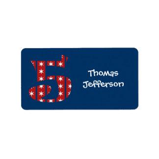 5to Etiquetas de las barras y estrellas del Etiqueta De Dirección
