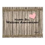 5to feliz. Aniversario de boda Postal