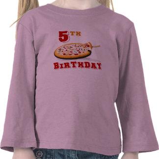 5to Fiesta de la pizza del cumpleaños Camiseta
