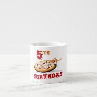 5to Fiesta de la pizza del cumpleaños Taza Espresso