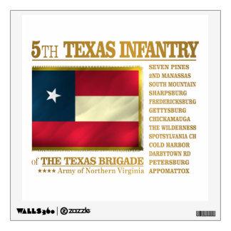 5to Infantería de Tejas (BA2) Vinilo Decorativo
