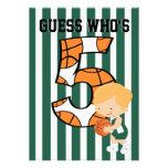 5to Jugador de básquet verde y blanco del cumpleañ
