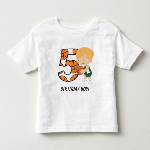 5to Jugador de básquet verde y blanco del T-shirts