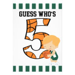 5to Jugador de básquet verde y blanco v2 del cumpl