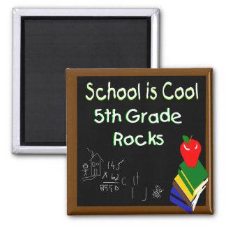 5to La escuela primaria es fresca Imán Cuadrado