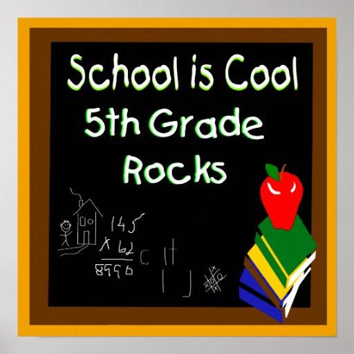 5to La escuela primaria es poster fresco