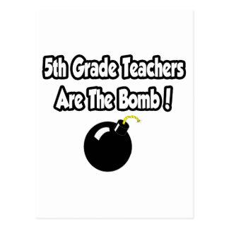 5to ¡Los profesores del grado son la bomba! Postales