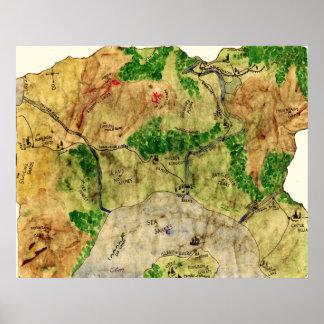 5to Mapa del reino olvidado Poster